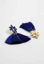 STYLE REPUBLIC - Tassel earrings - blue