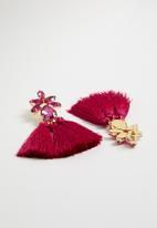 STYLE REPUBLIC - Tassel detail earrings - pink