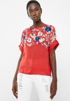 Vero Moda - Zoe top - red