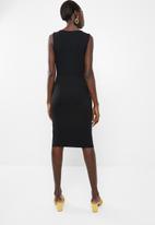 Vero Moda - Louisa knot short sleeve knee dress - black