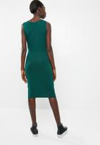 Vero Moda - Louisa knot short sleeve knee dress - green