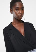 Vero Moda - Freya long sleeve shirt bodysuit - black