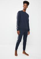 Superbalist - Piping crew sweater - navy