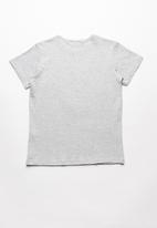 POP CANDY - Short sleeve printed  tee - grey