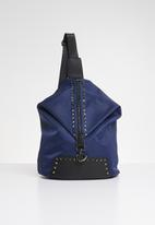 STYLE REPUBLIC - Studded shoulder bag - navy