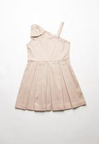 Rebel Republic - Bow detail dress - neutral