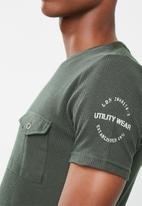 Brave Soul - Fort t-shirt - khaki green
