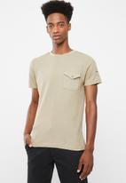 Brave Soul - Fort t-shirt - stone