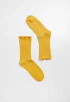 Superbalist - Frill ankle socks - yellow