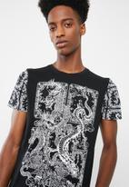 Brave Soul - Dragon t-shirt - black