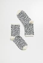 Superbalist - Animal print ankle socks - grey
