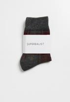 Superbalist - Check ankle socks - grey