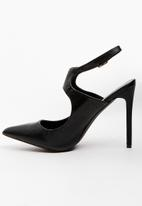 STYLE REPUBLIC - Arch cut-out pointy heels - black