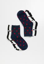 Superbalist - Spot ankle socks 3 pack - multi