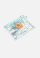 Typo - Clear it pencil case - blue