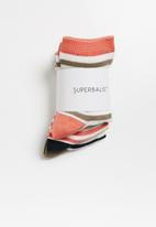 Superbalist - 3 pack ankle socks - multi