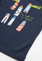 POP CANDY - Printed short sleeve tee - navy