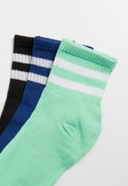 Superbalist - 3 pack sport ankle socks - multi