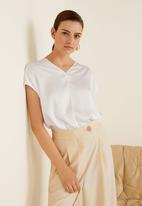 MANGO - Contrasting blouse - white