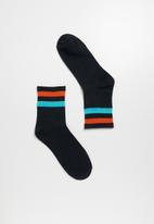 Superbalist - Stripe ankle socks - navy