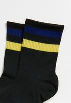 Superbalist - Stripe ankle socks - black