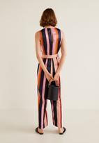 MANGO - Striped jumpsuit - pink & navy