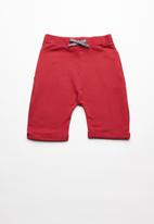 Superbalist - Contrast jogger shorts - red