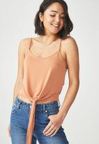 Cotton On - Nat tie strappy cami - orange