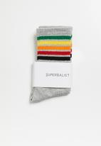 Superbalist - Rainbow ankle socks - grey
