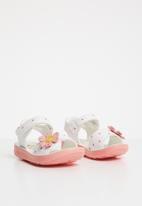 POP CANDY - Flower detailed sandal - white & pink