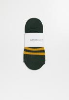 Superbalist - Stripe secret socks - green