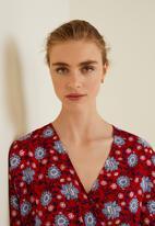 MANGO - Floral print maxi dress - red
