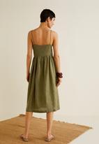 MANGO - Pocket detail dress - khaki green