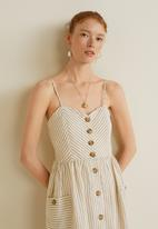MANGO - Pocket detail dress - beige