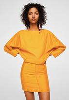 MANGO - Boat neck mini dress - yellow