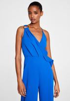 MANGO - Ring wrap jumpsuit - blue