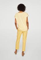 MANGO - V-neck blouse - yellow