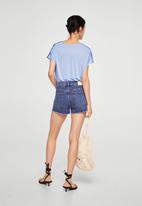MANGO - V-neck blouse - blue