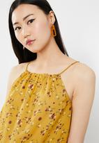 ONLY - Viola halterneck croppped singlet - yellow