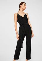 MANGO - Sleeveless jumpsuit - black