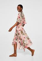 MANGO - Floral print dress - pink