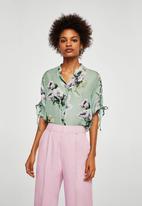 MANGO - Floral print blouse - green