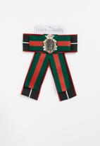 STYLE REPUBLIC - Stripe bow brooch - multi