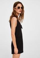 MANGO - Knot detail playsuit - black