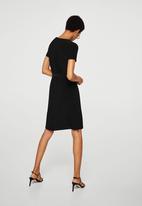 MANGO - Bow wrap dress - black