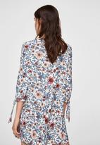 MANGO - Sleeve knotted dress - multi