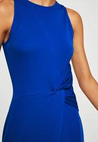 MANGO - Ruched detail dress - cobalt