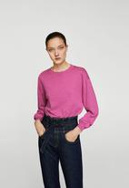 MANGO - Back vent sweater - pink