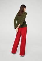 MANGO - Flared sleeve jumper - green