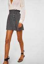 MANGO - Printed shorts - black